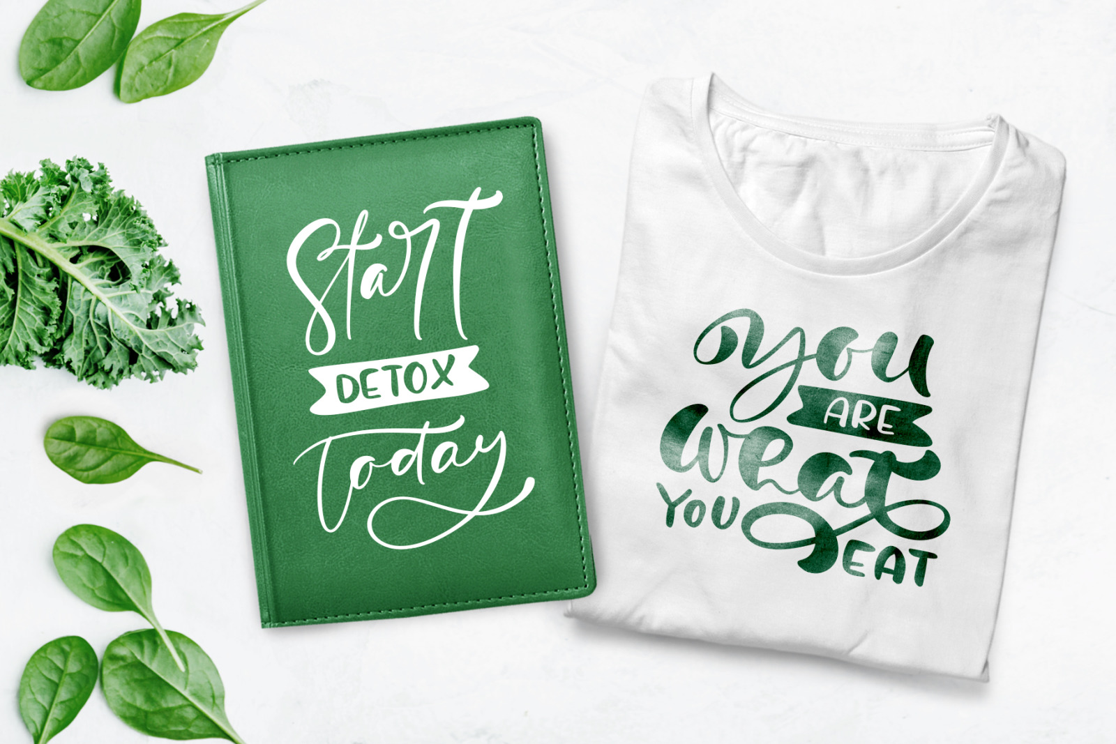 Start Detox Today Lettering Text