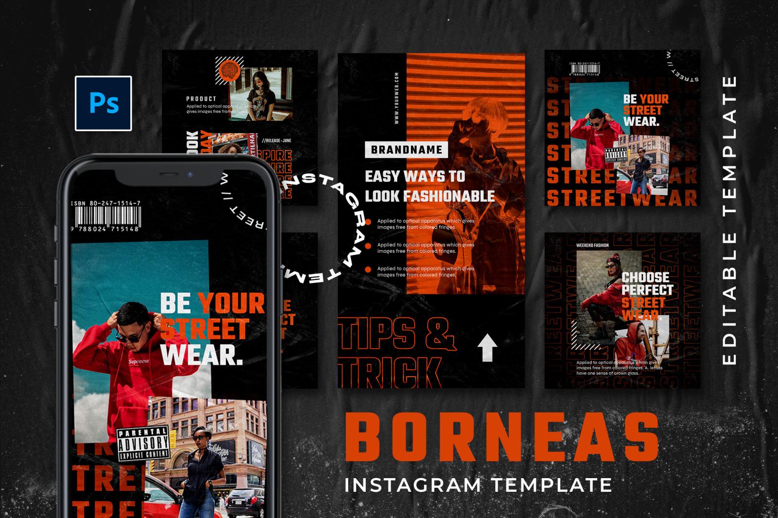 Borneas Instagram Template
