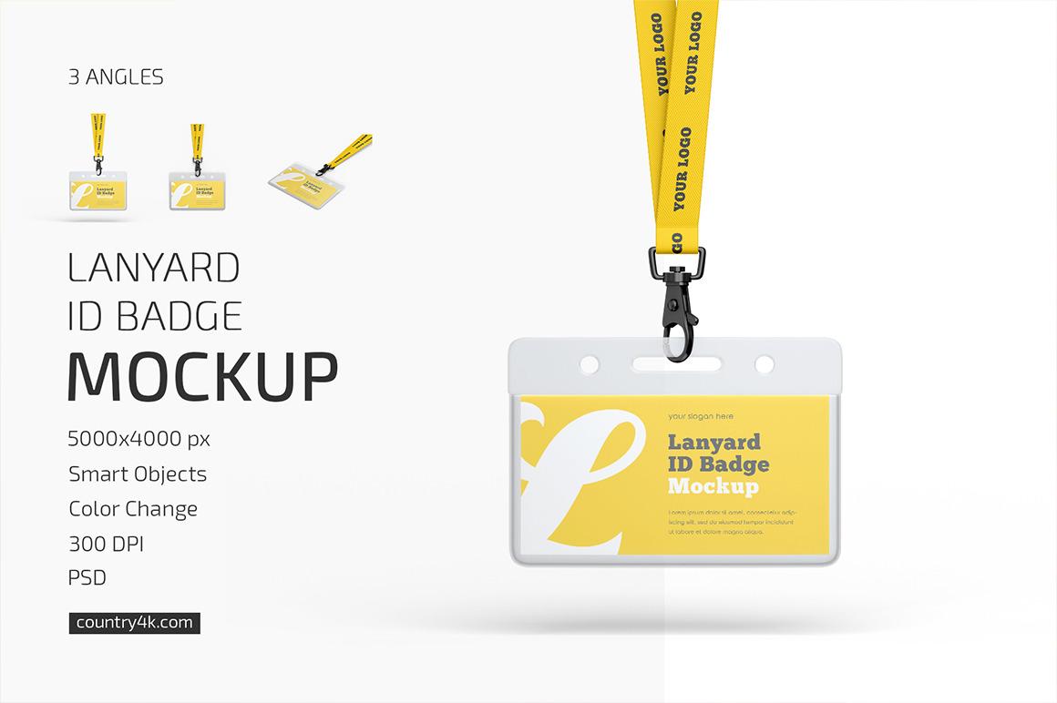 Lanyard ID Badge Mockup Set