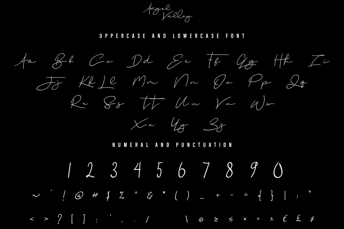 Angel Valley Signature Font