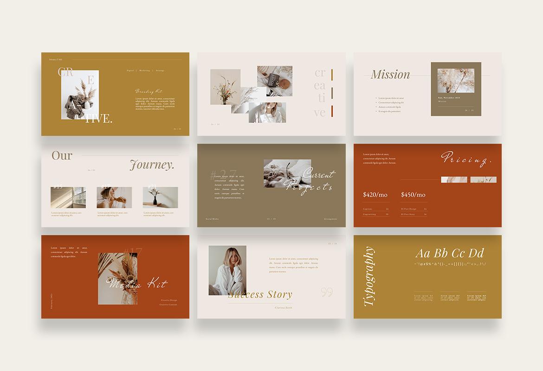 Beauty Minimalist Branding Kit PPTX
