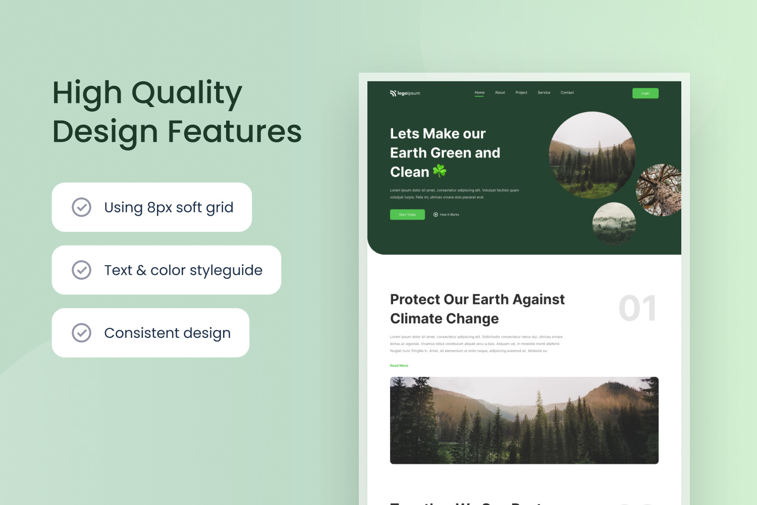 Environmental Save The Earth Website Template