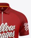 Raglan Zip Polo Shirt Mockup