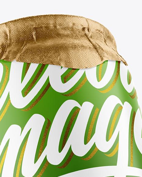 250ml Matte Drink Can w/ Foil Lid Mockup