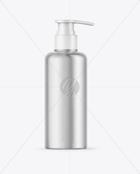 Matte Metallic Soap Bottle Mockup