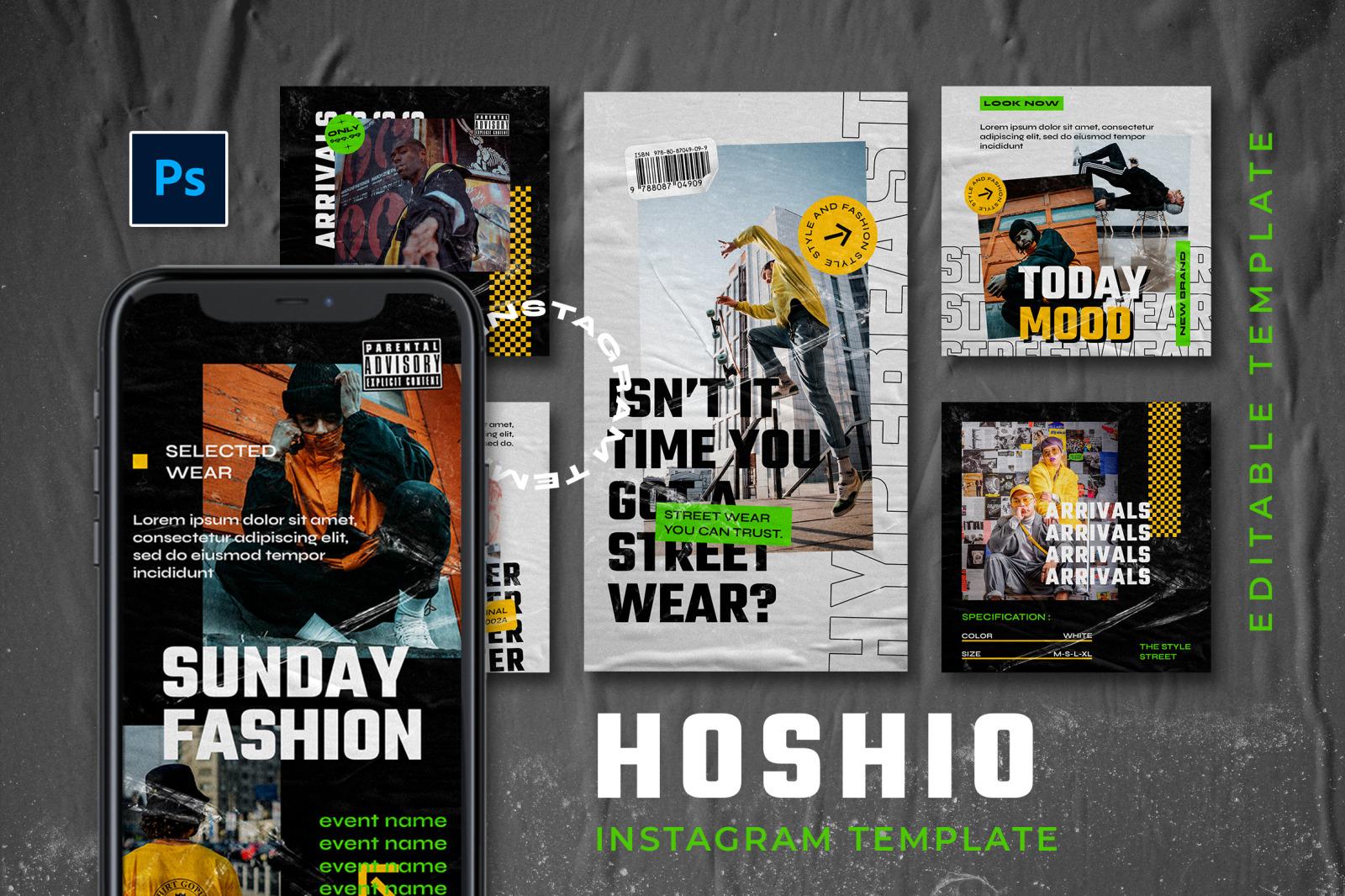 Hoshio Instagram Template