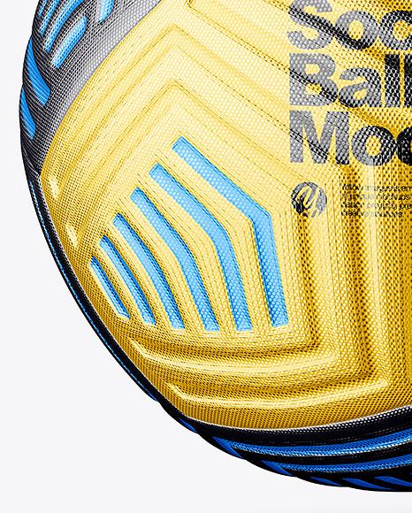 Metallic Soccer Ball Mockup