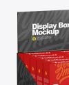Display Box with 10 Boxes Mockup