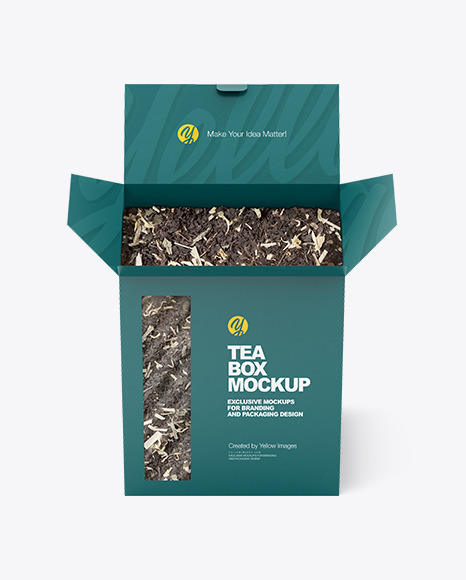 Box with Tea Mockup