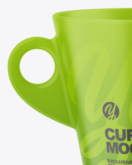 Two Matte Cups Mockup
