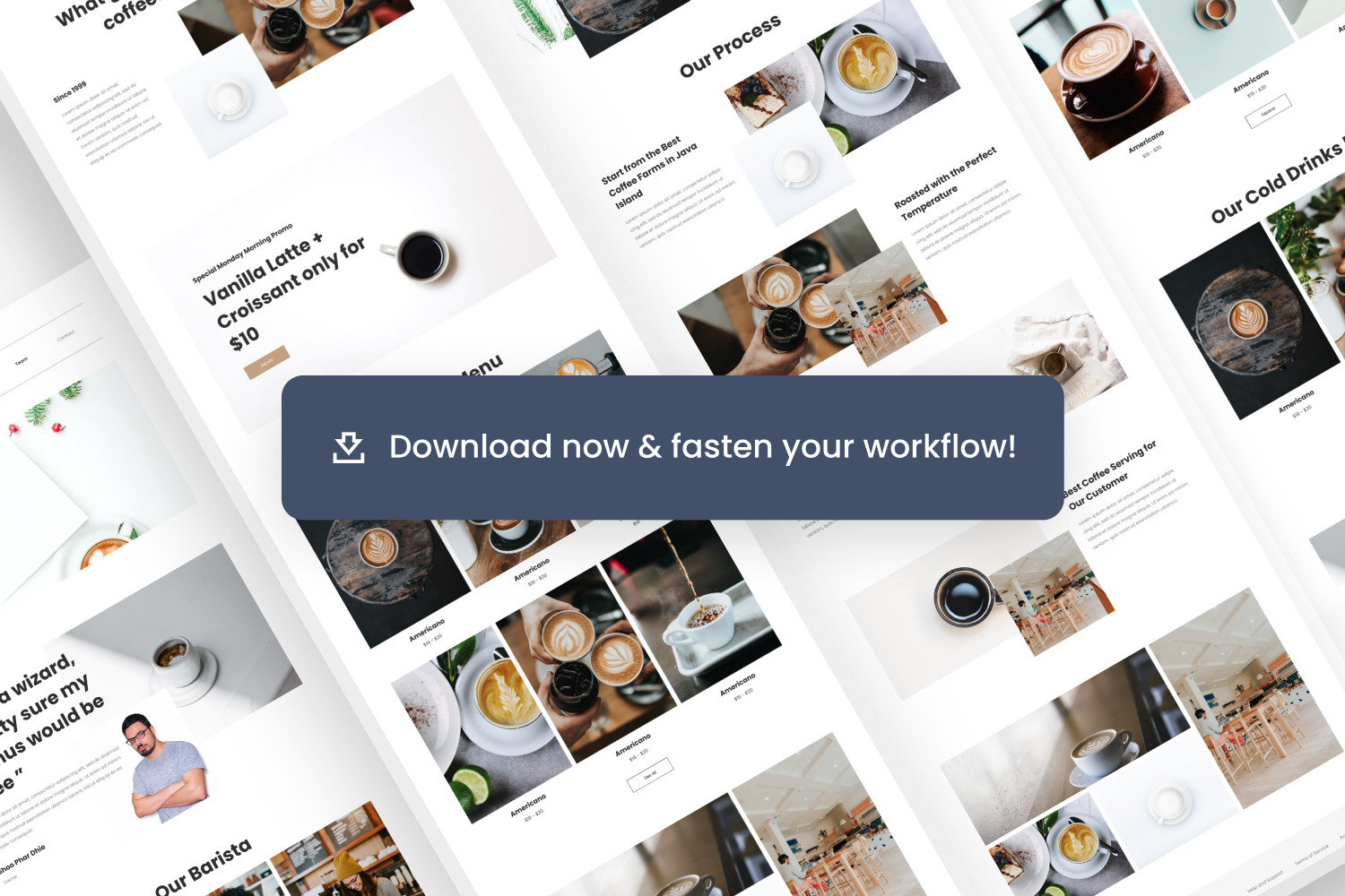 Restaurant and Cafe Website Template
