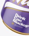 250ml Glossy Drink Can w/ Foil Lid Mockup