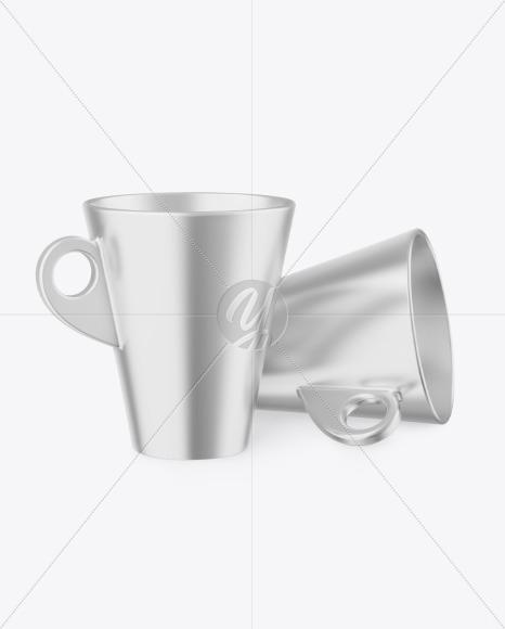 Two Metallic Cups Mockup