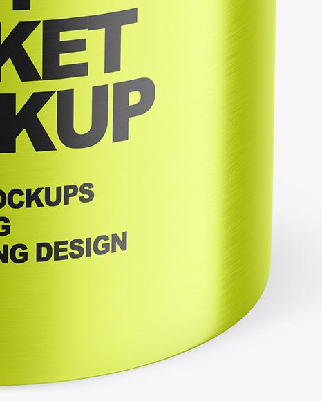 Metallic Paint Bucket Mockup