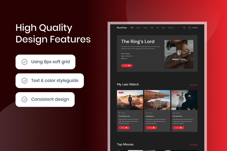 Film & TV Streaming Website Template