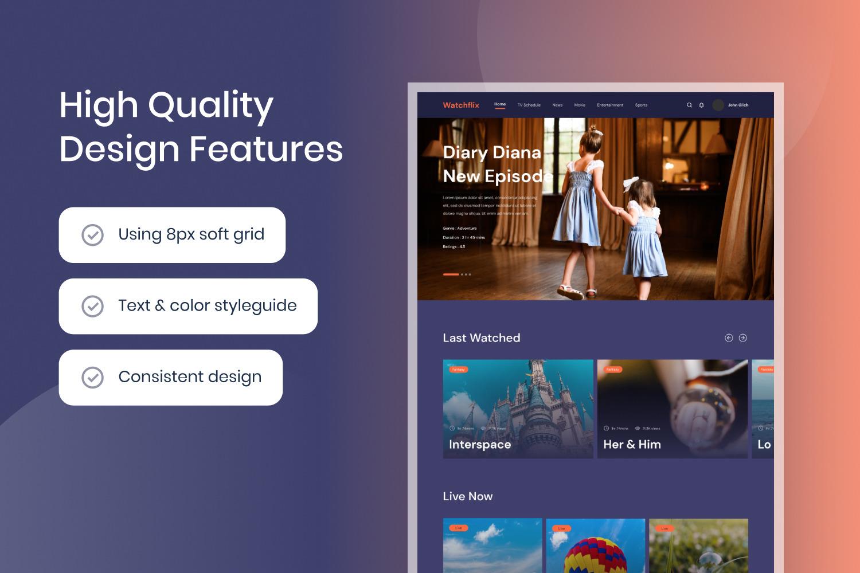 Film & TV Provider Website Template