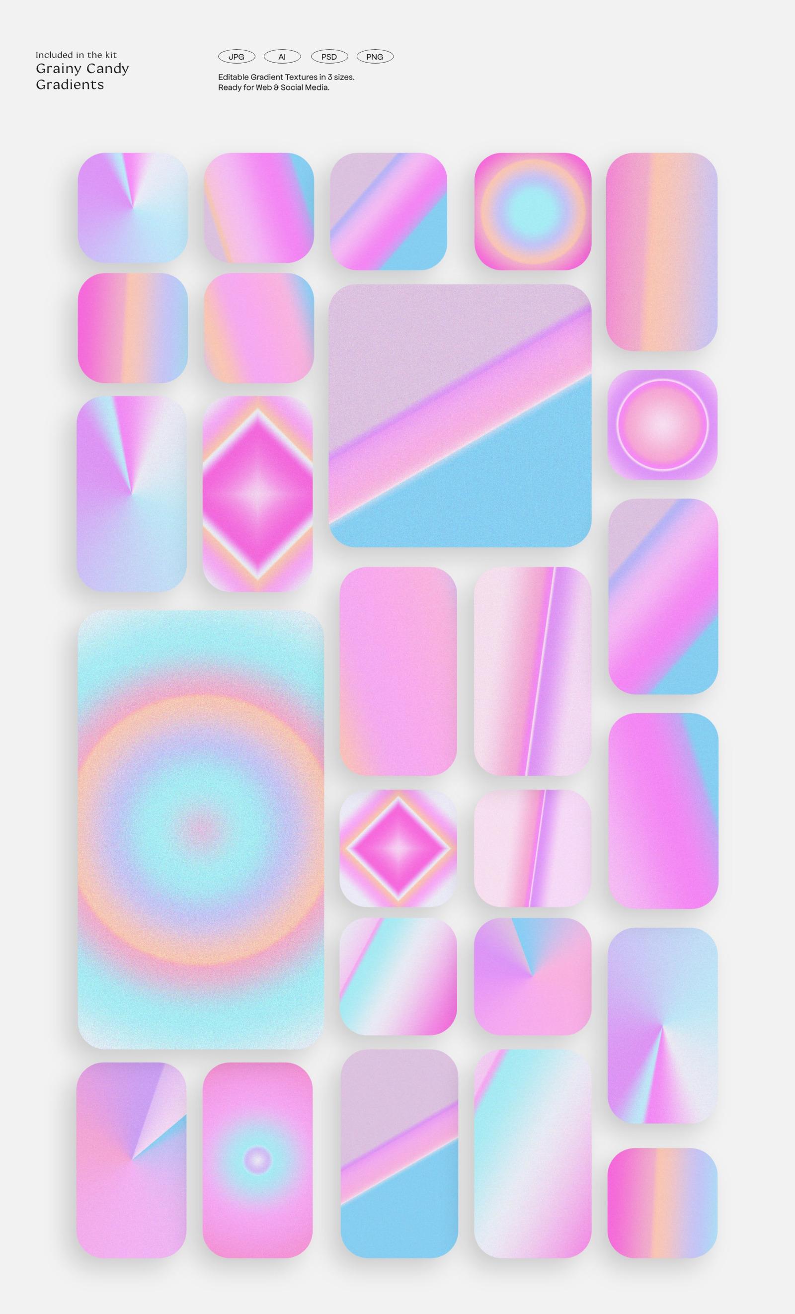 BUNDLE - LA Candy Gradients & Shapes