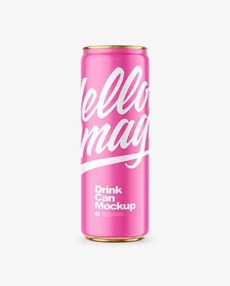 355ml Matte Drink Can Mockup
