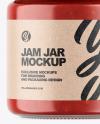 Clear Glass Jar w/ Jam Mockup