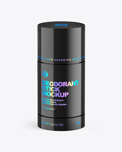 75g Glossy Plastic Deodorant Stick Mockup