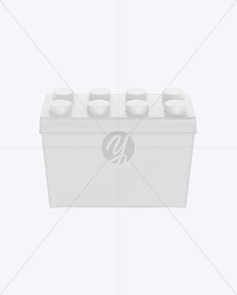 Matte Plastic Box Mockup