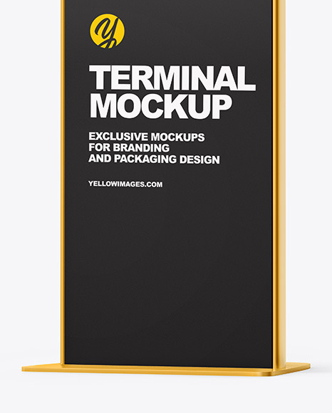 Terminal with Metallic Racks Mockup