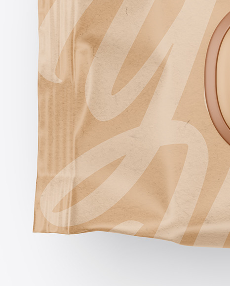 Kraft Wet Wipes Pack Mockup