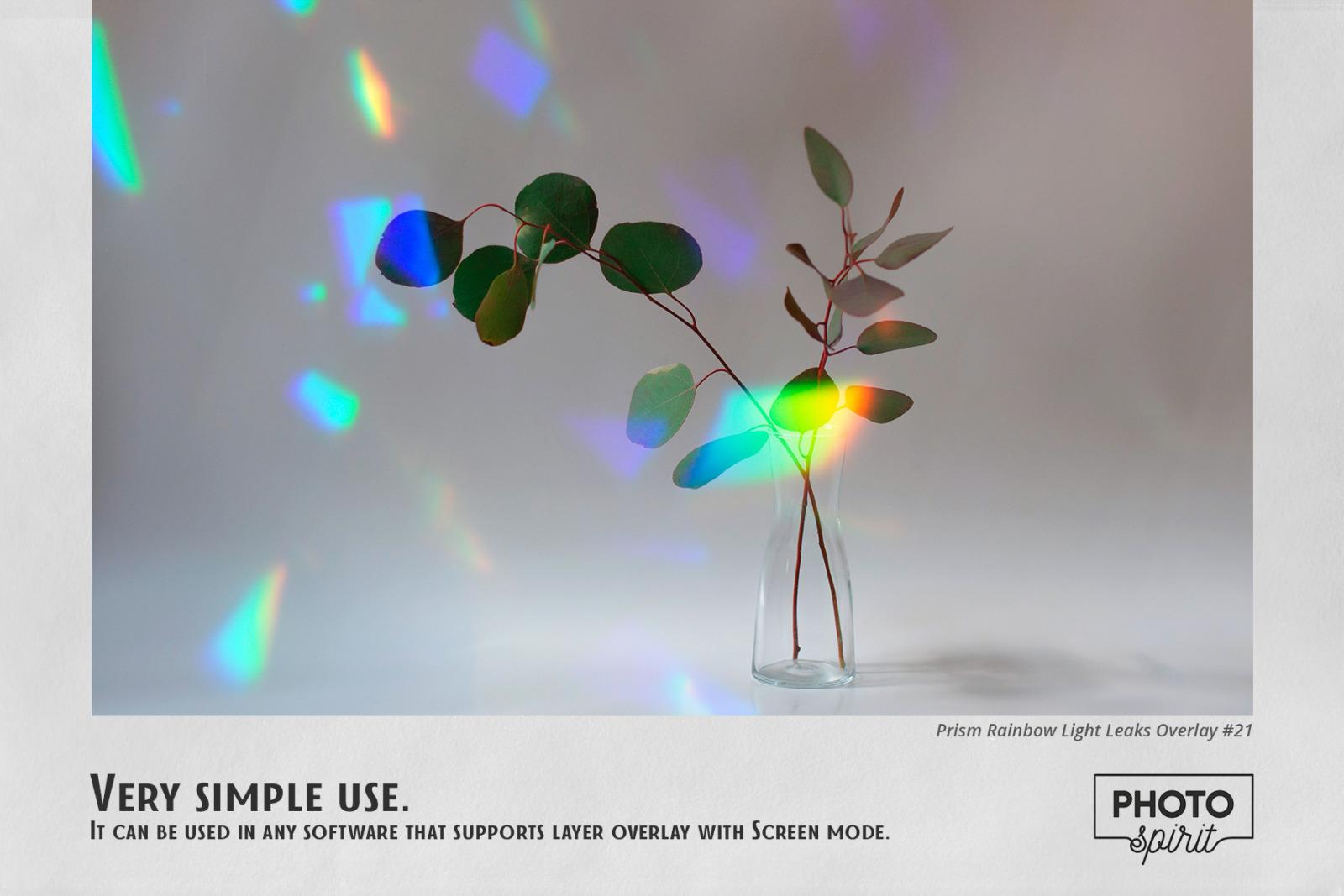Prism Rainbow Light Leaks Overlays