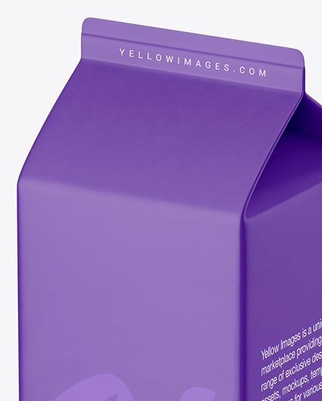 1000ml Carton Pack Mockup