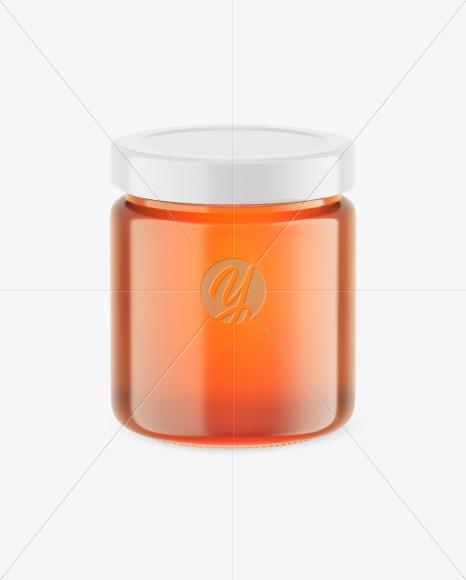 Clear Glass Honey Jar Mockup
