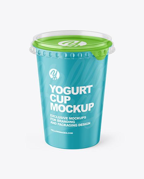 Matte Yogurt Cup Mockup