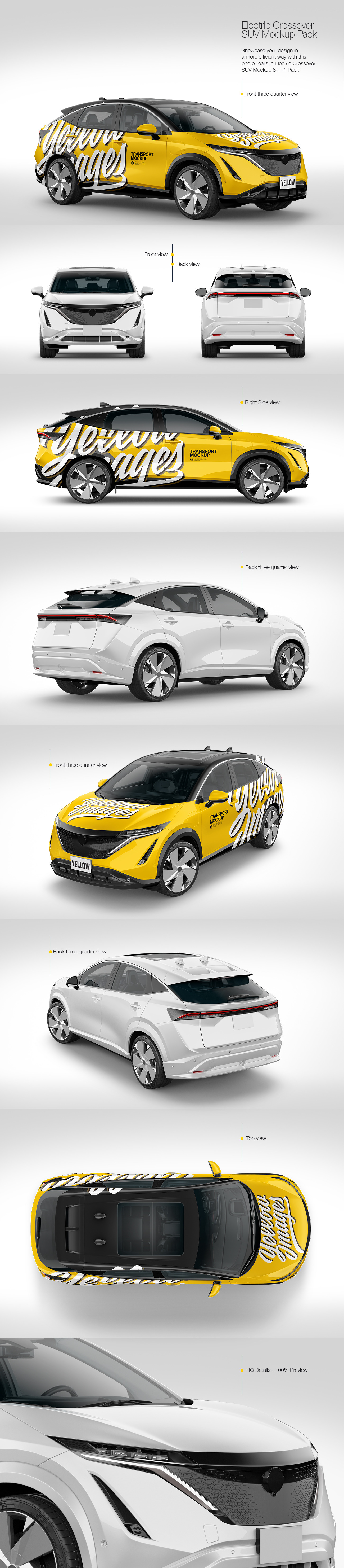 Electric Crossover SUV Mockup Pack
