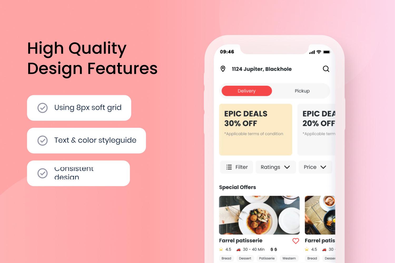 Madhang - Food Delivery App UI Kit