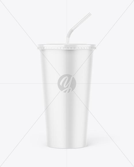 Paper Soda Cup Mockup