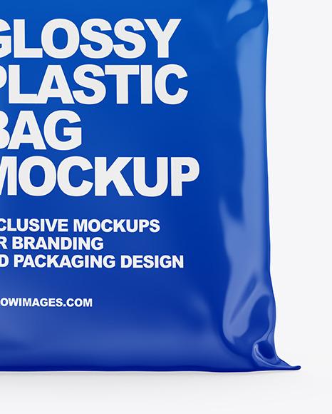 Glossy Plastic Bag Mockup