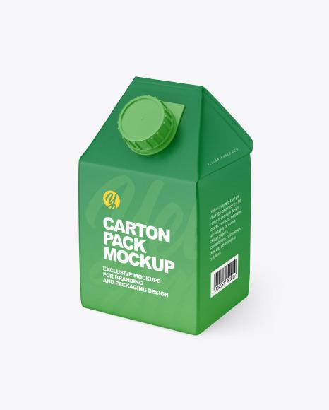 500ml Carton Pack Mockup