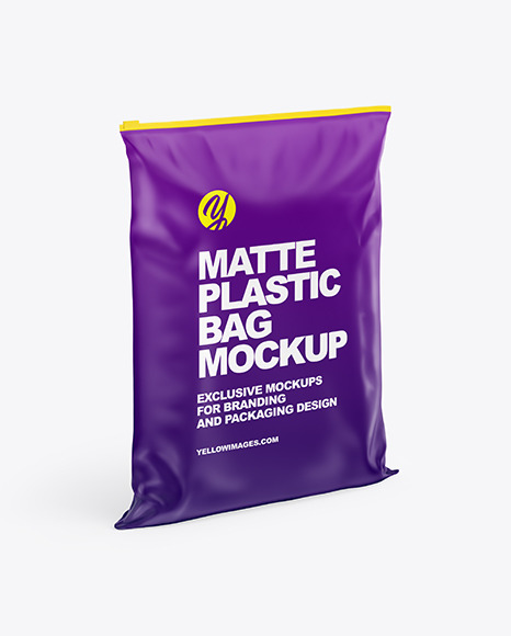 Matte Plastic Bag Mockup