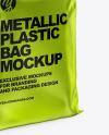 Metallic Plastic Bag Mockup