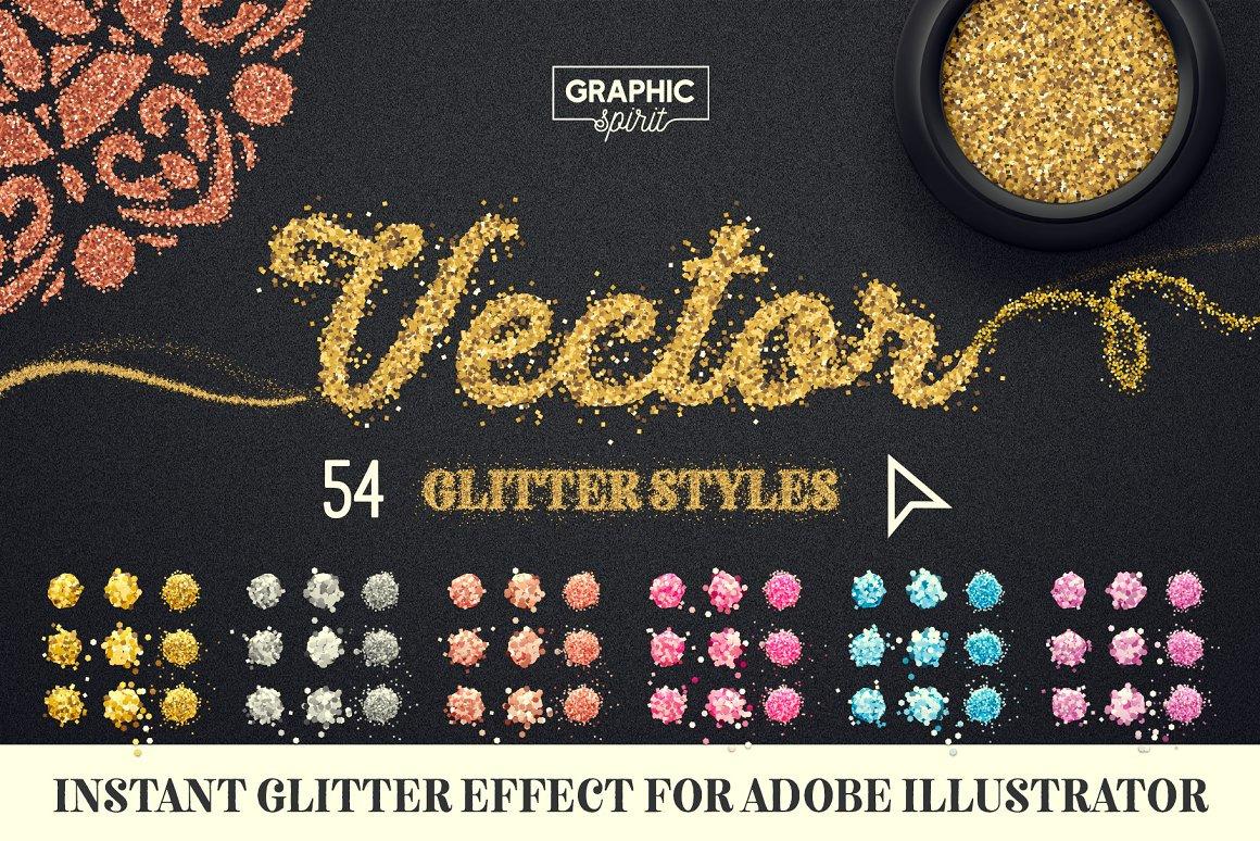 VECTOR GLITTER For Adobe Illustrator