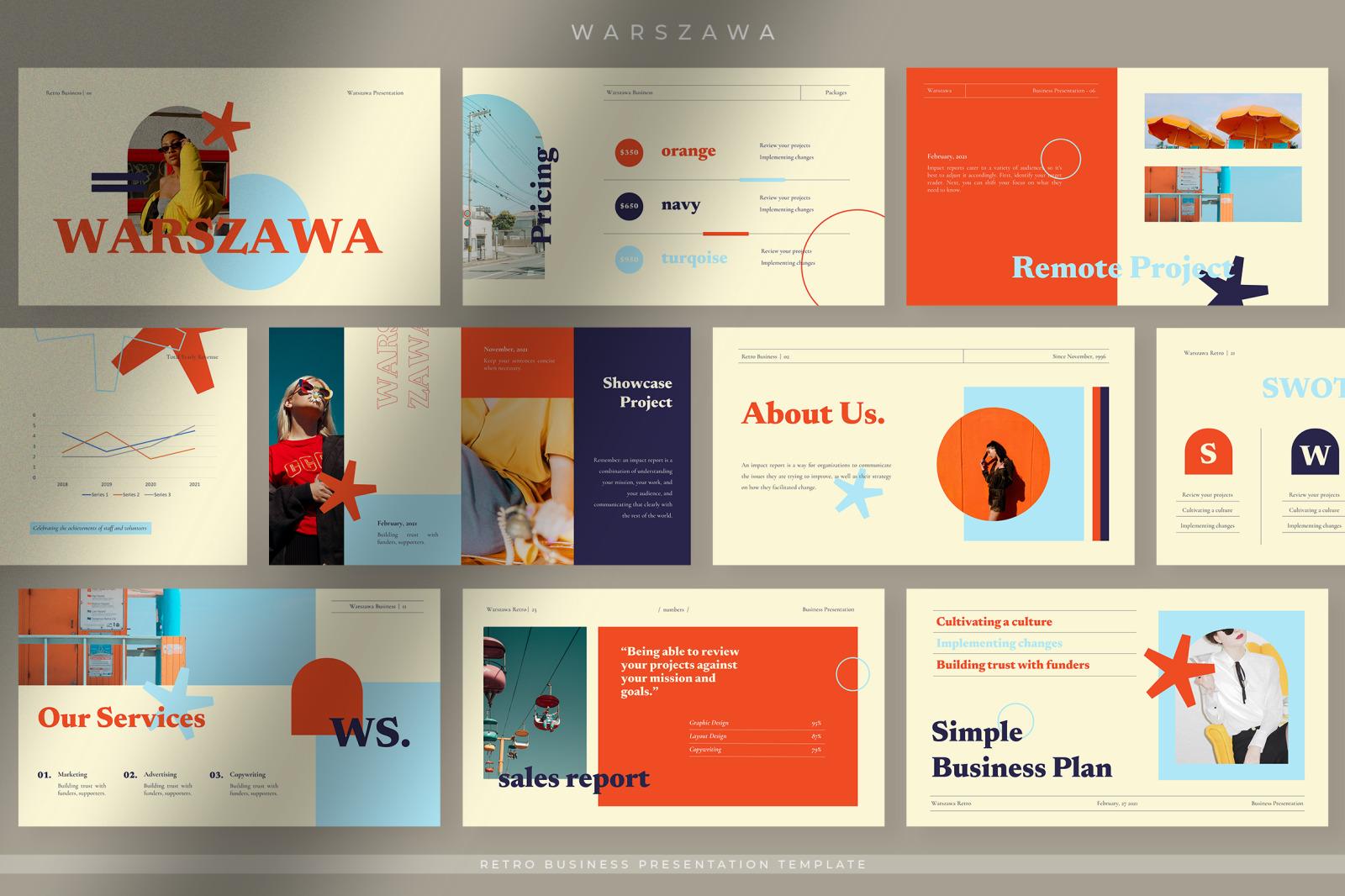 Warszawa Retro Business Presentation