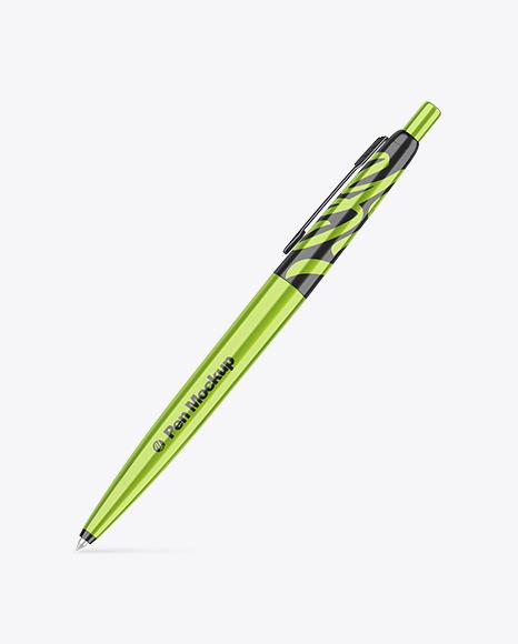 Metallic Pen Mockup