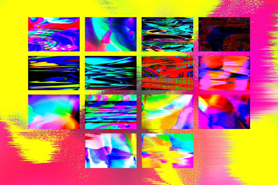 Abstract Glitch Art textures