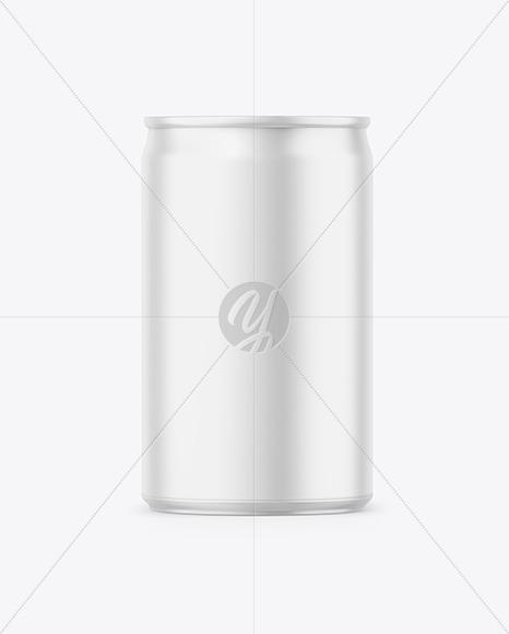 150ml Matte Drink Can Mockup