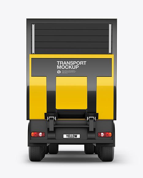 Truck Mockup - Back View