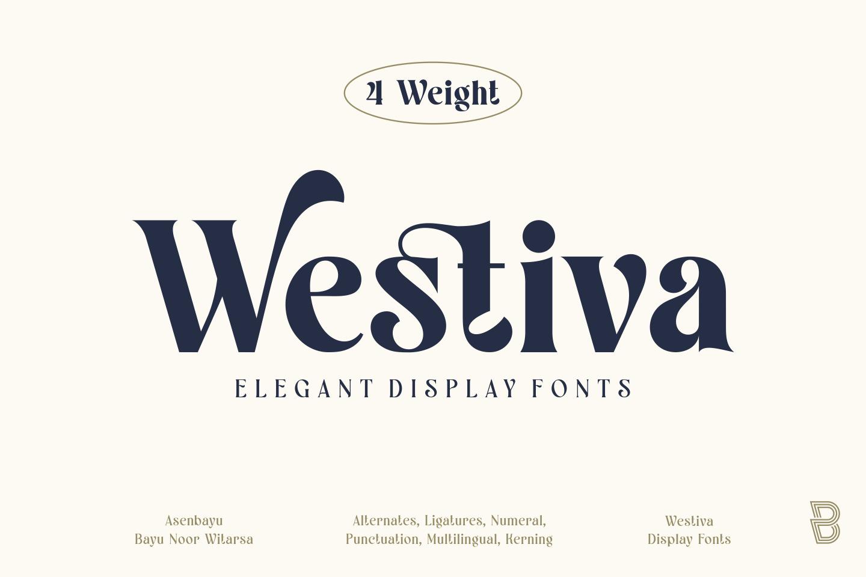 Westiva Fonts Family