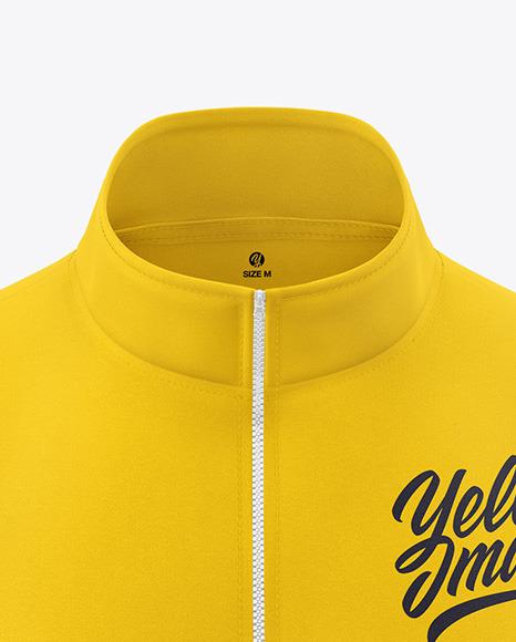 Men's Full-Zip Sweatshirt Mockup - Front View