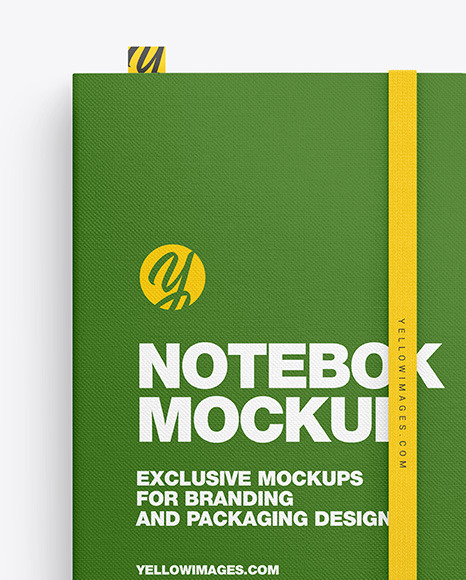 Fabrick Notebook with Pen Mockup