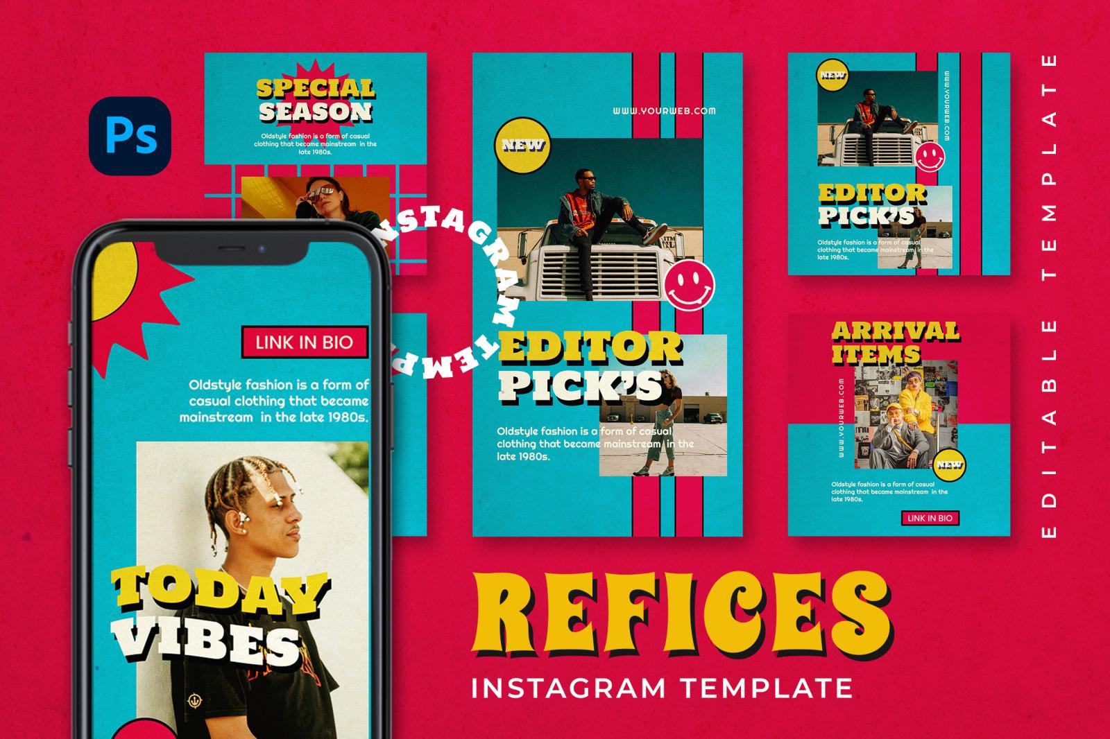 Refices Instagram Template