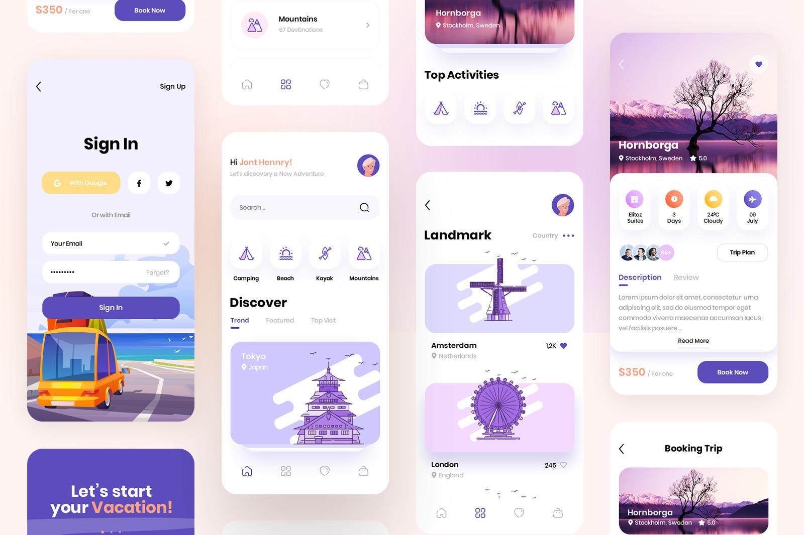 Tracoo - Travel App UI Kit
