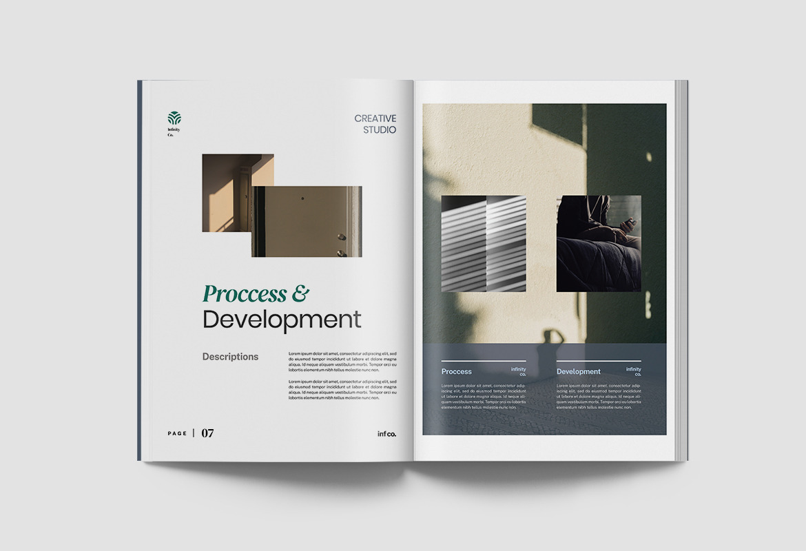 Infiny - Company Profile Indesign